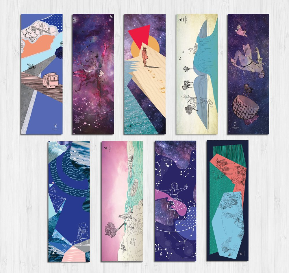 Dreame Yoga Mats inspired by favorite places, moments, future visions for oneself & quotes. Create yours here: http://www.dreame.me/site/yogamats.php