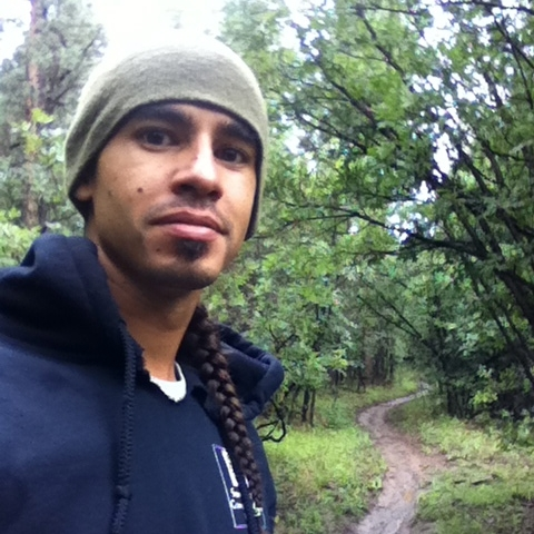 Chako on a hike near McGaffey when leading his first crew in 2014.jpg