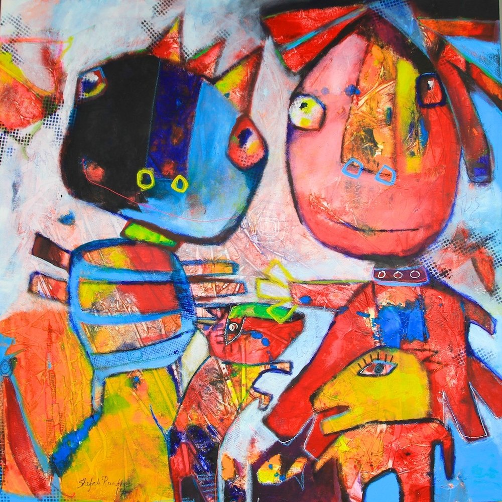 Let's play - 100 x 100 cm - 2014 - Solgt
