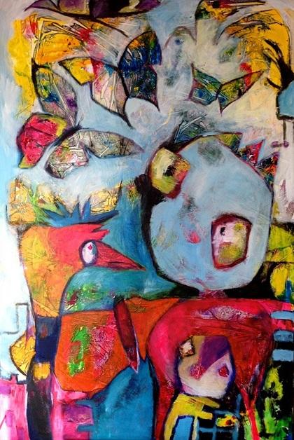 Wings of love - 100 x 150 cm - 2014