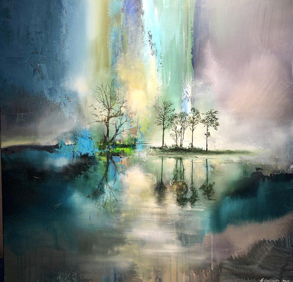 """Nordic Dreamscape"" 100x100 cm - Solgt"