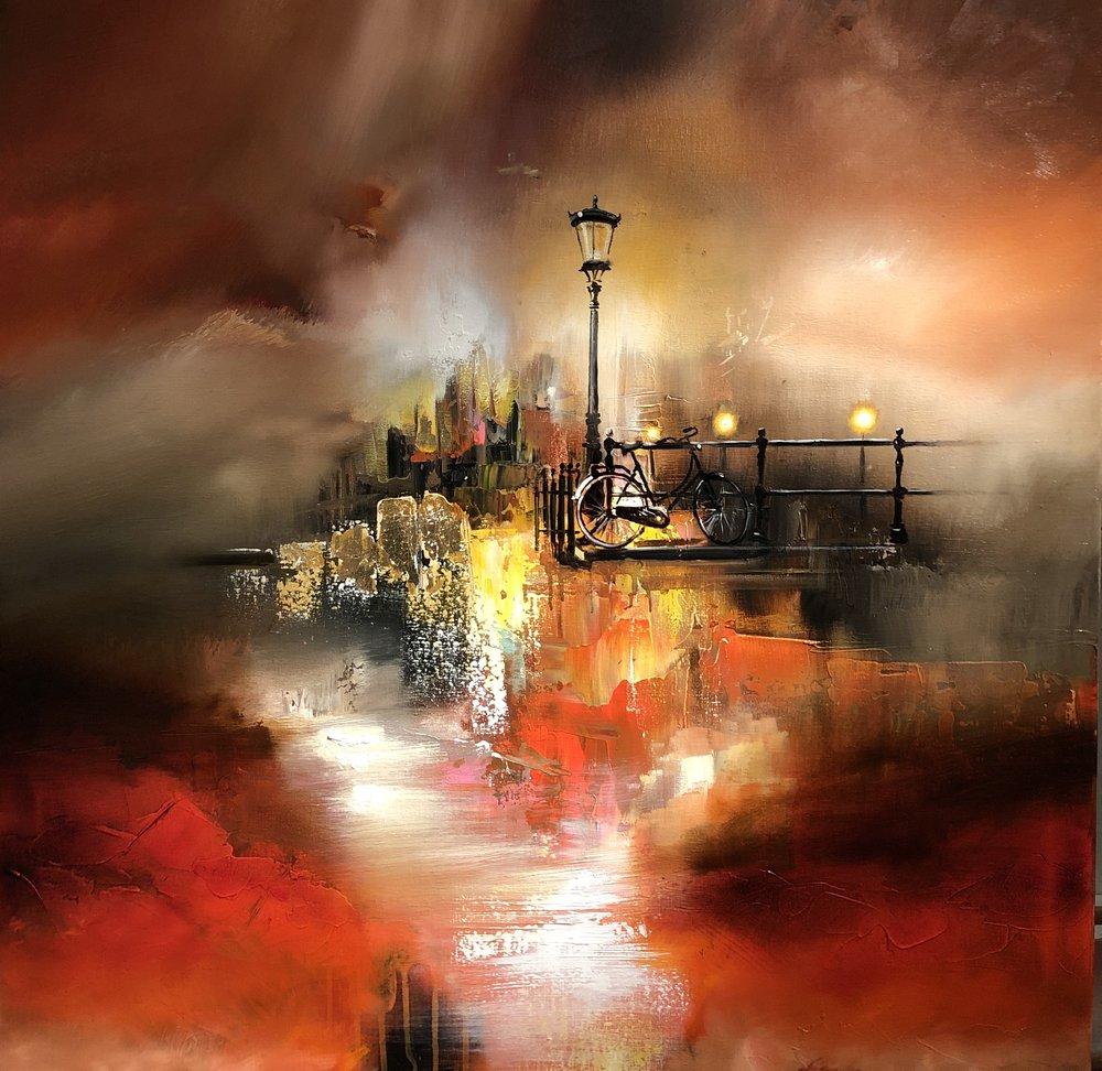 """""""Parisian Dreamscape"""" - 100x100 cm solgt"""