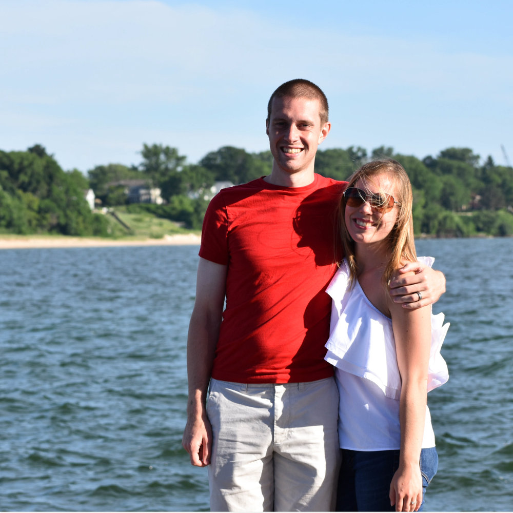 Casey and her husband, Cameron, celebrating their third anniversary in South Haven, MI.