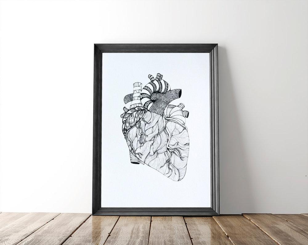 $20   Heart Print
