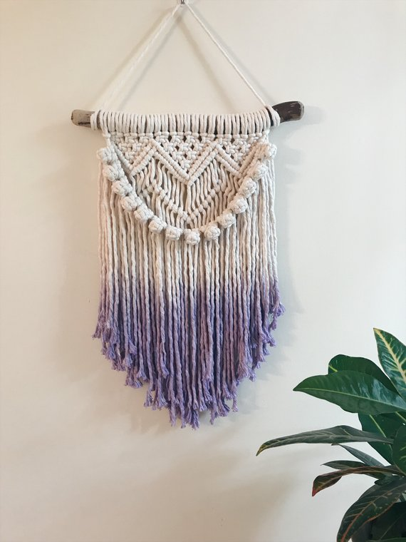 Dyed Macrame, $98