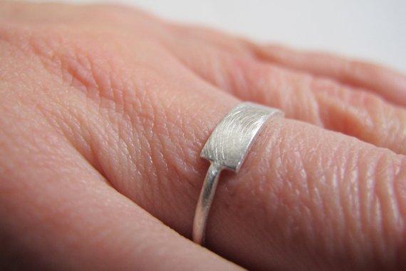 Silver Bar Ring, $48.00
