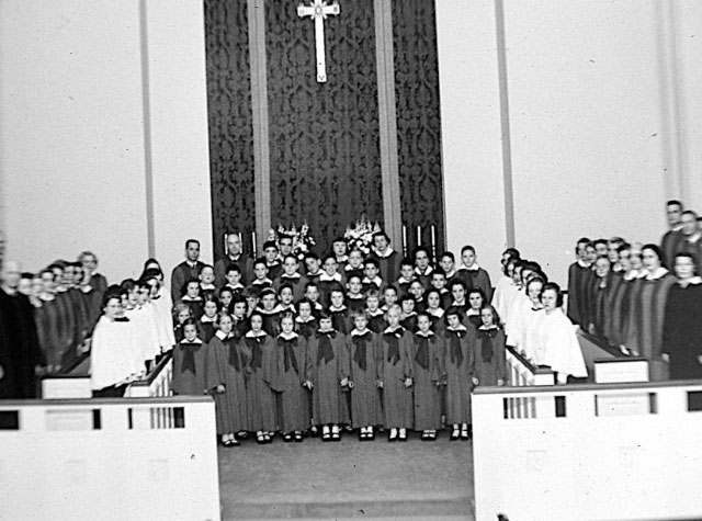 Dedication of new sanctuary, 1951