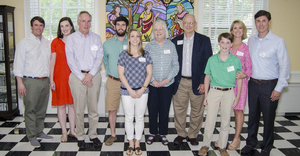 From left: Mike Litman, M.R. Litman, Jim Dunn, Andrew Owens , Clare Clements, Sallie Phillips, John Phillips, Jack McGill, Elizabeth McGill, Henry McGill