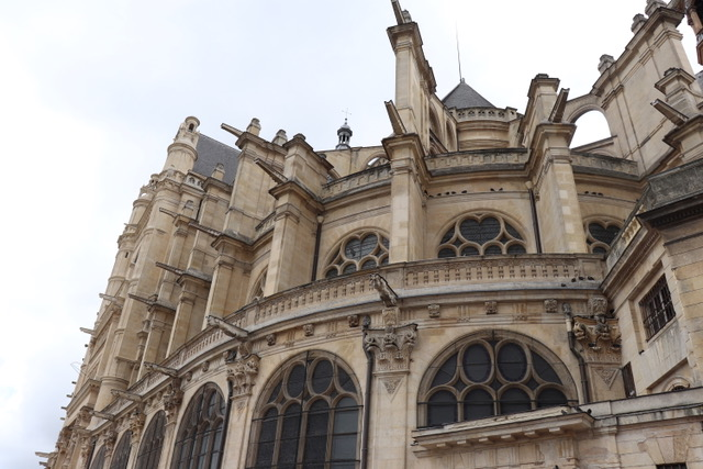 Saint— Eustache with an organ larger than the legendary churches St. Suplice and Notre-Dame.