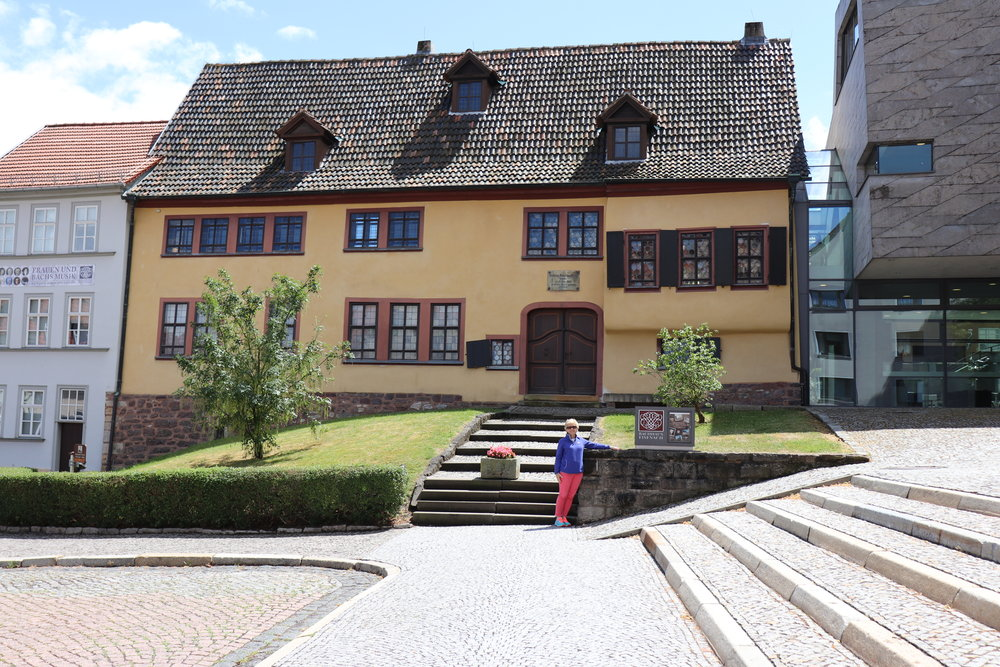 The real quest begins here in Eisenach, Germany, the birthplace of the great J. S. Bach, and this is the house where he was born. What an emotional experience for me to be at this house!