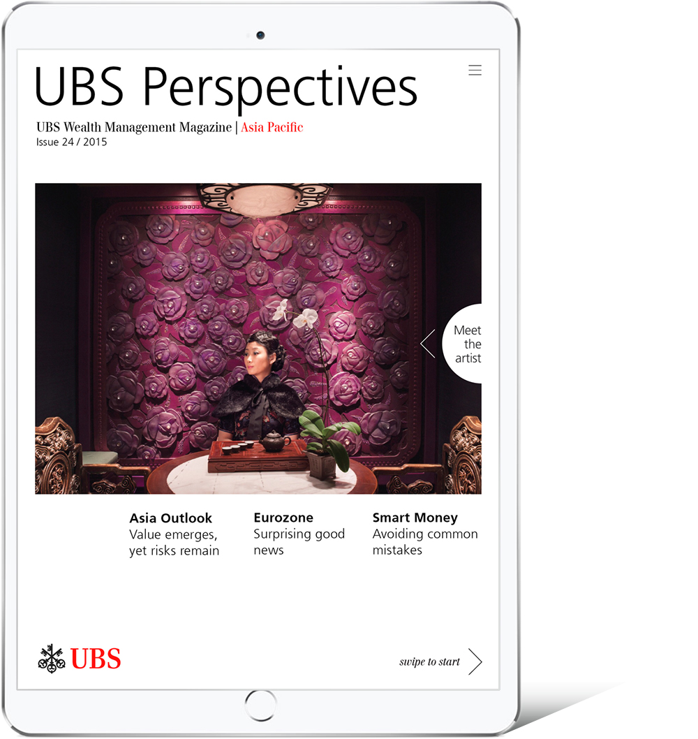 Digitale Magazine der UBS auf deren Newsstand
