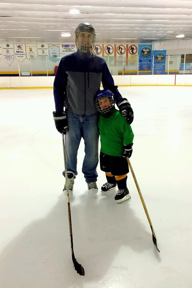 January 2015 after hockey practice