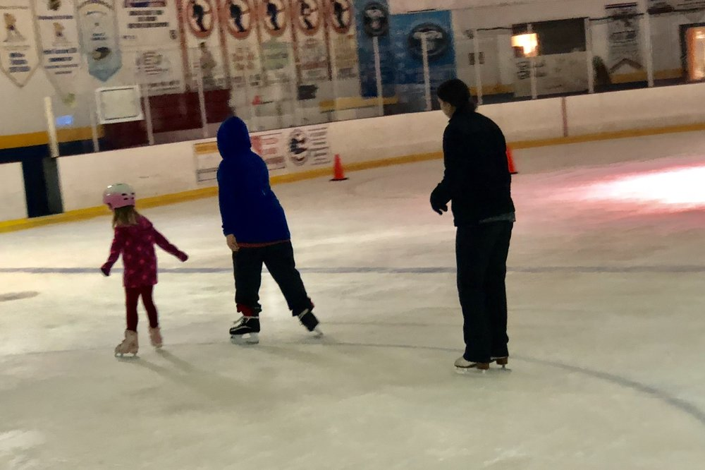 Ian's first official skating lesson