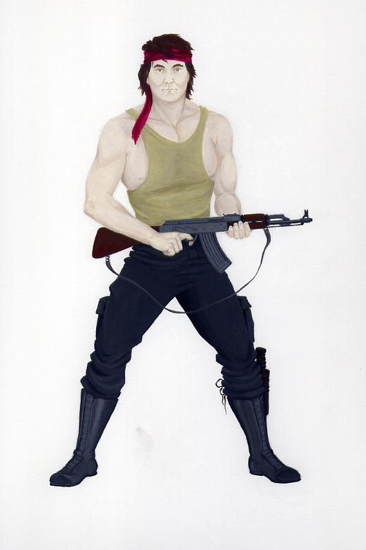 Self-Portrait as Rambo