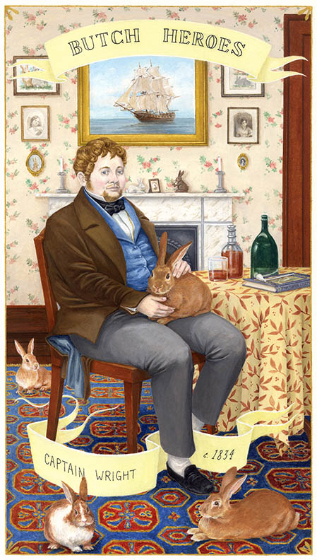 Captain Wright c. 1834 England gouache on paper, 11 x 7 inches 2016 In the collection of the Davis Museum at Wellesley College