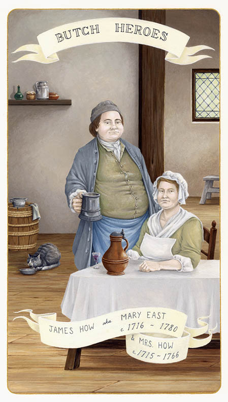 James How aka Mary East & Mrs. How c. 1716-1780 and c. 1715-1766 England gouache on paper, 11 x 7 inches 2011