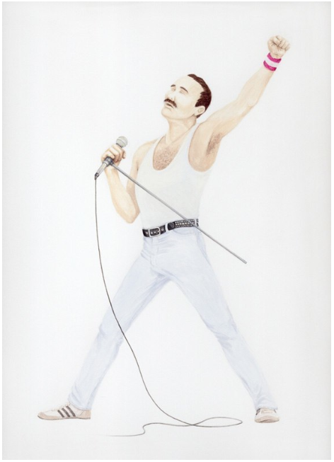 Self-Portrait as Freddie Mercury, circa 1985
