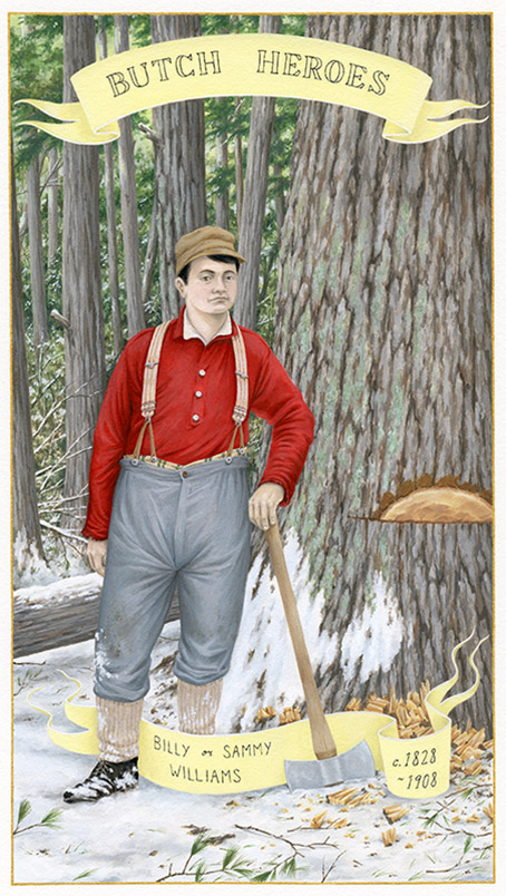 Billy or Sammy Williams c. 1828-1908 United States   gouache on paper, 11 x 7 inches   2017  In the collection of the Minnesota Museum of American Art