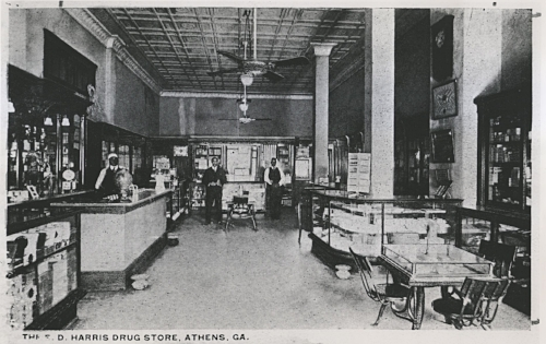Harris Pharmacy in Morton Theatre - 1914.jpg