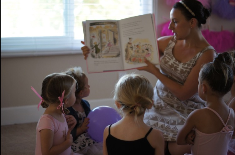 Every Ballerina Birthday party I do starts with a story time. It's a great way to get everyone focused and ready for the fun to come!