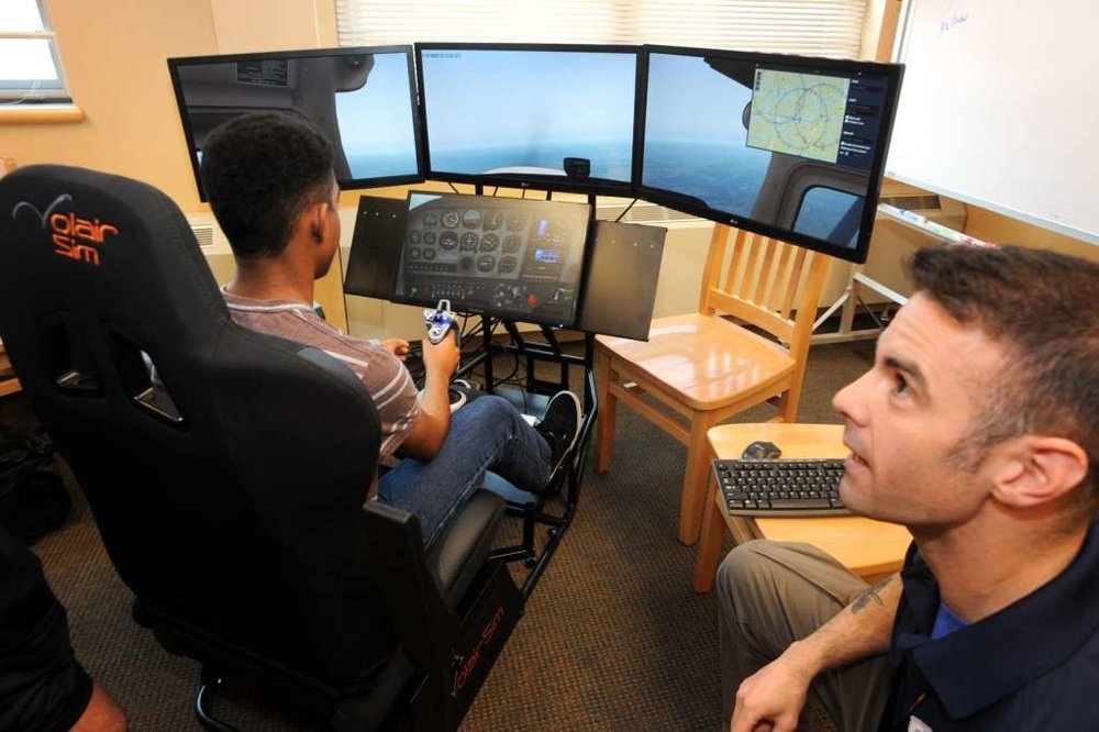 AVIATION CADET EXPERIENCE (ACE) - Grades: 8-12 | Duration: 8 hrs. | Tuition: $200/studentFly simulators & drones - learn aerodynamics the way Air Force pilots do