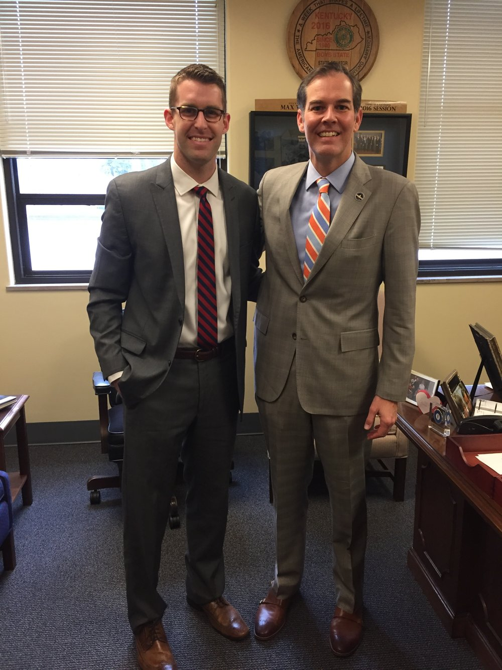 Dr. Taylor Cox and Senator Max Wise (R)