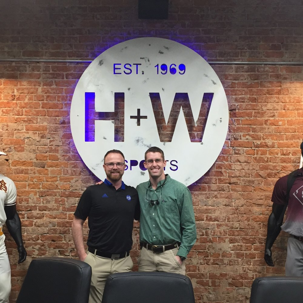 Shaun Hord of H + W Sports (L) and Dr. Taylor Cox (R)