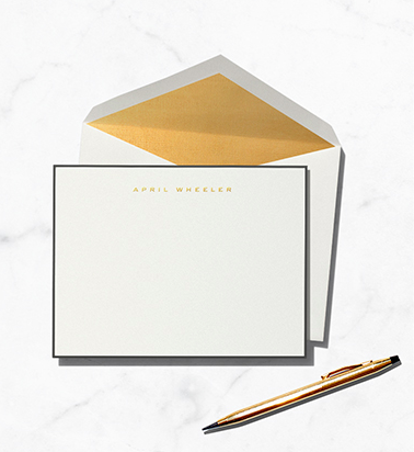 Paperless Post Custom Notecards, from $100