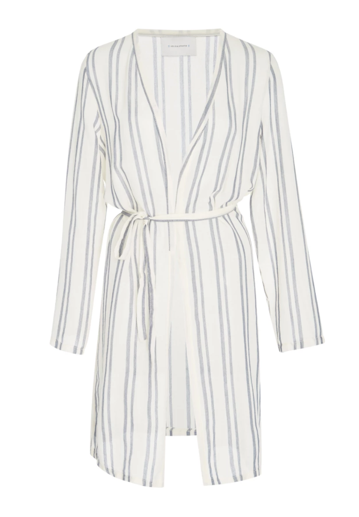Solid & Stripped Robe, $120