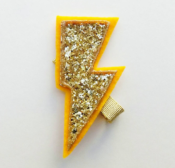 Lightening Bolt Clip, $8.
