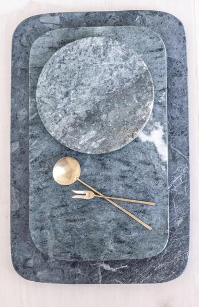 Green Marble Tray, $95-$180