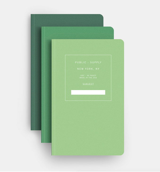 3-Pack Notebook, $32.