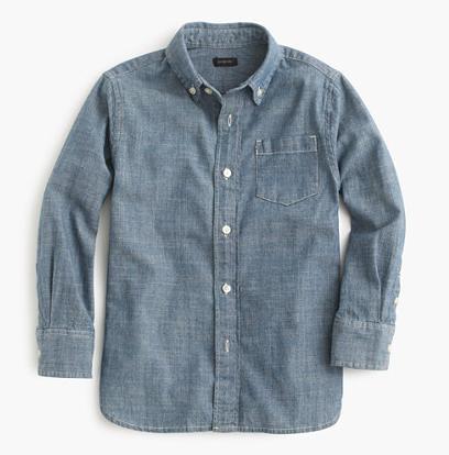 J.Crew, Chambray Shirt, $49.50.
