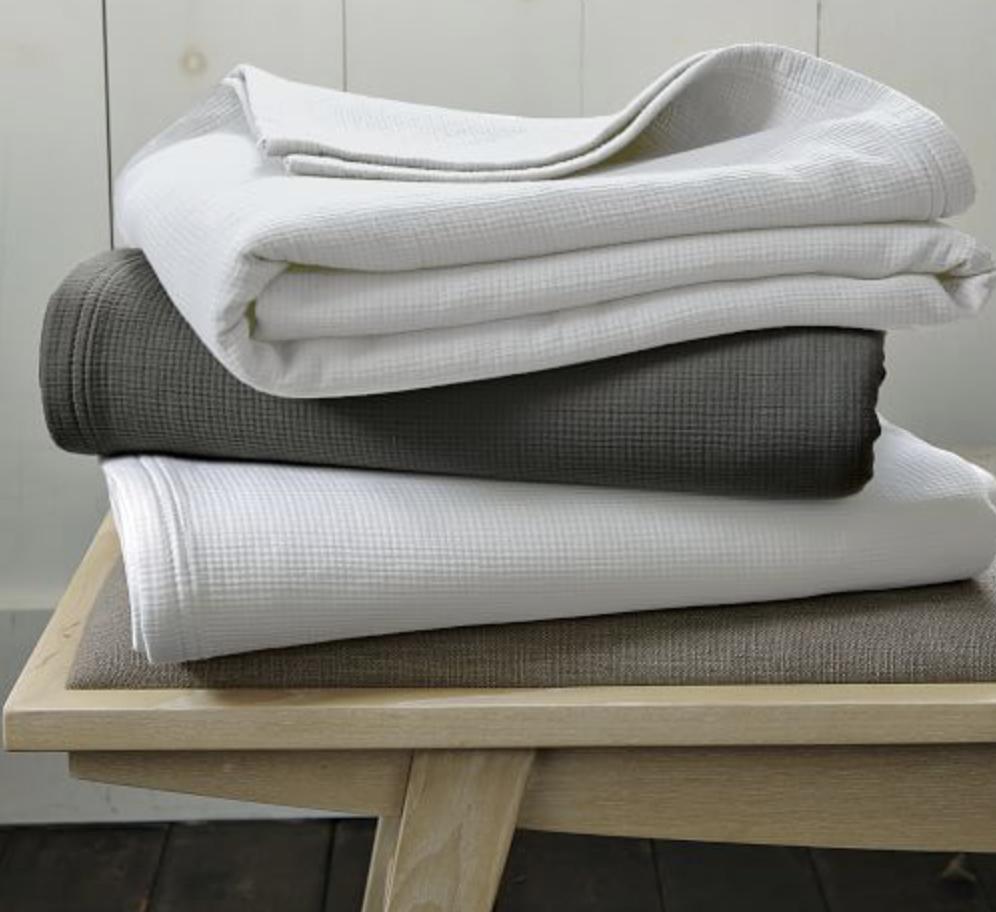 Organic Plisse Blankets, $69.99
