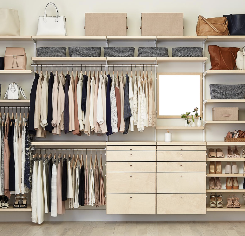 Elfa closet systems are available at  The Container Store  along with many other items for closet organization.