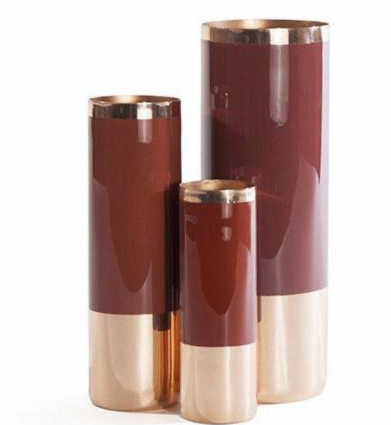 Louise Copper Vases, $35-$95