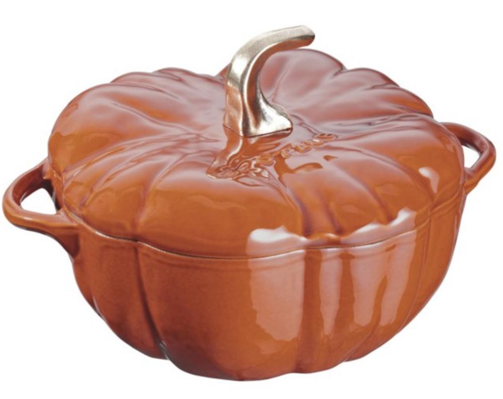 Staub Pumpkin Cocotte, $25