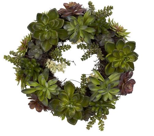 Succulent Wreath, $60.