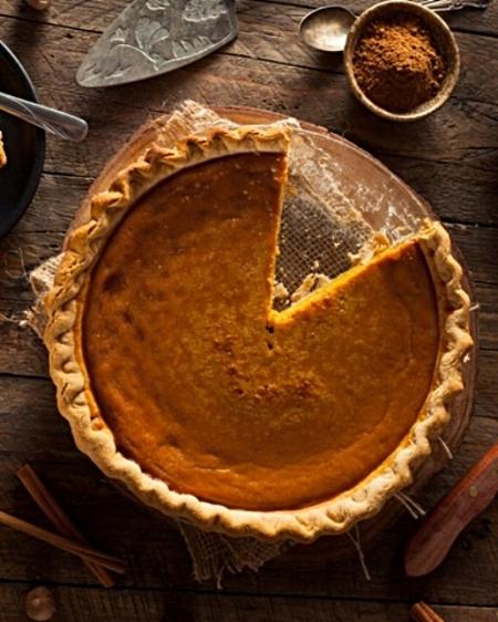 Spiced Pumpkin Pie via Epicurious