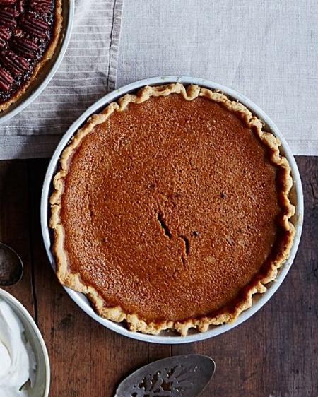 James Beard's Rich Pumpkin Pie via Food 52