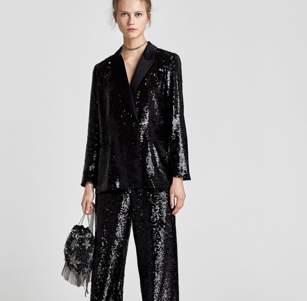 Sequinned Blazer, $199