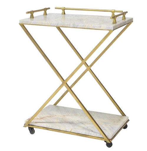 Marble cart, $2500.