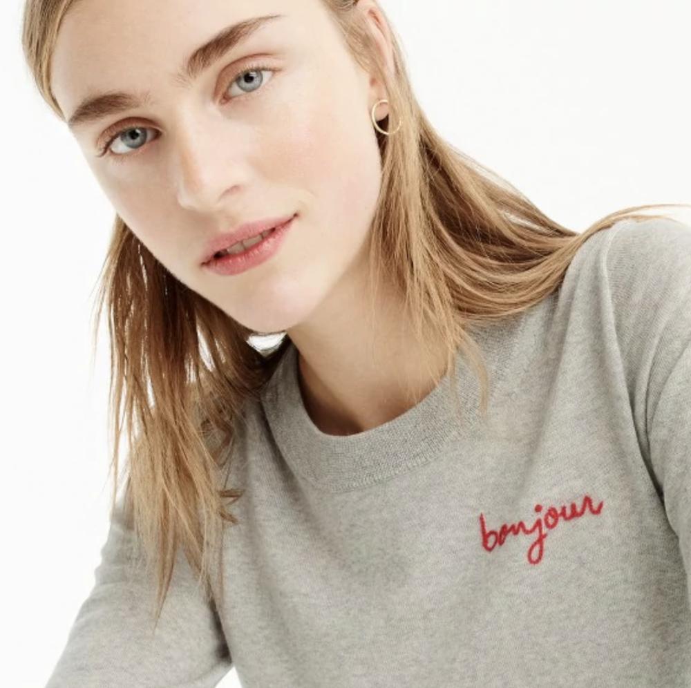 Bonjour Sweater, $80