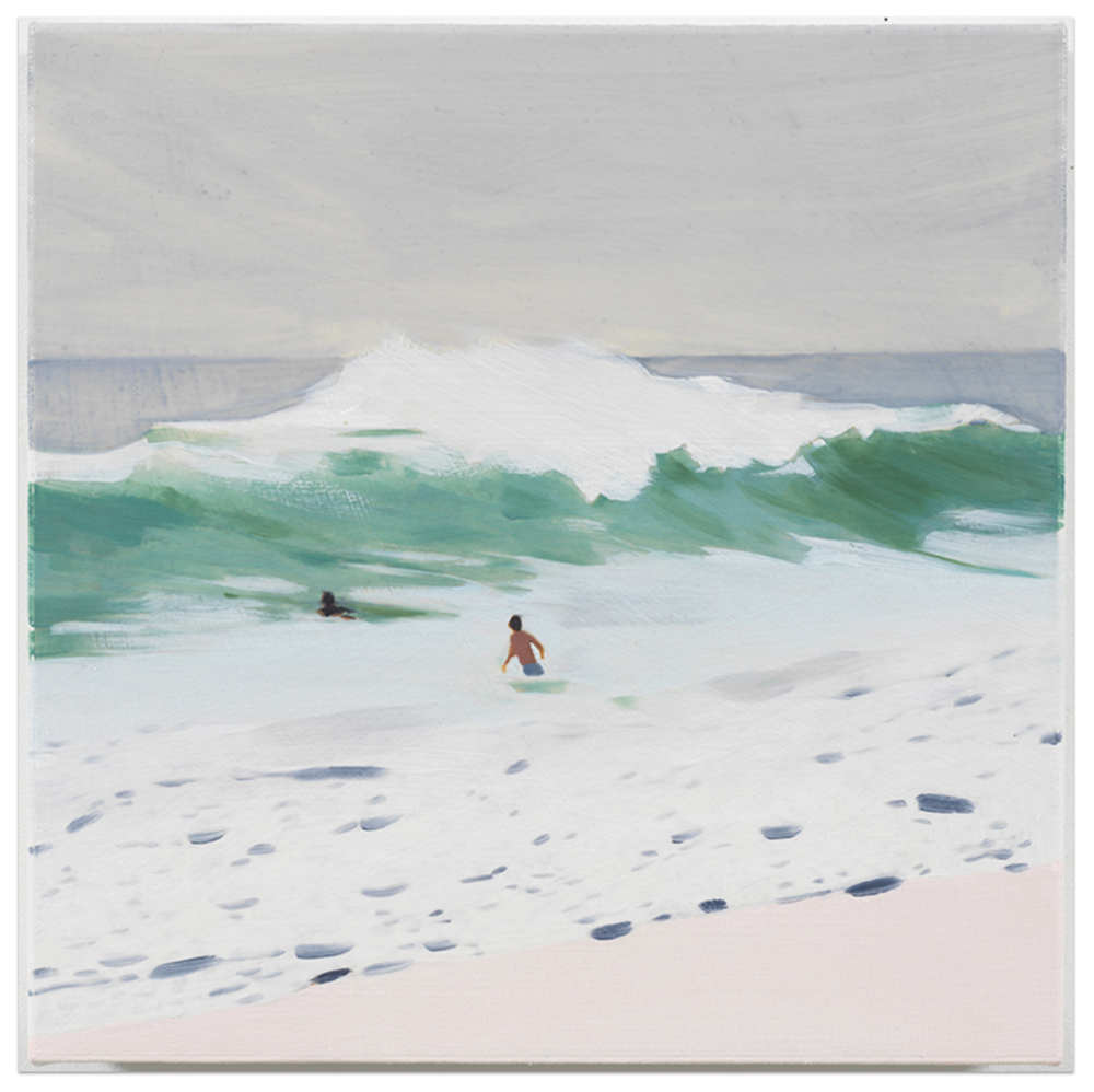 Wave | Mixed Media Oil on Canvas | 14 x 14 inches | 2018