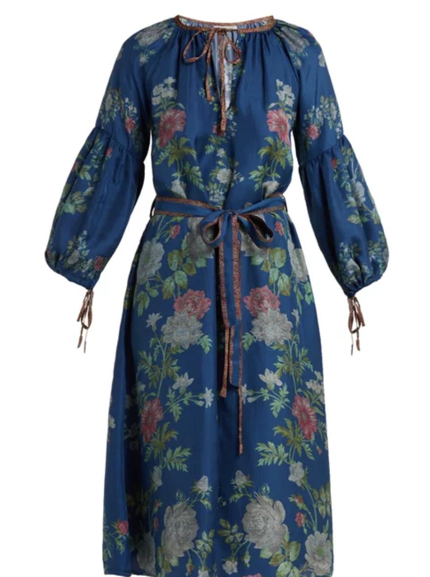 Russia Silk Dress, $578