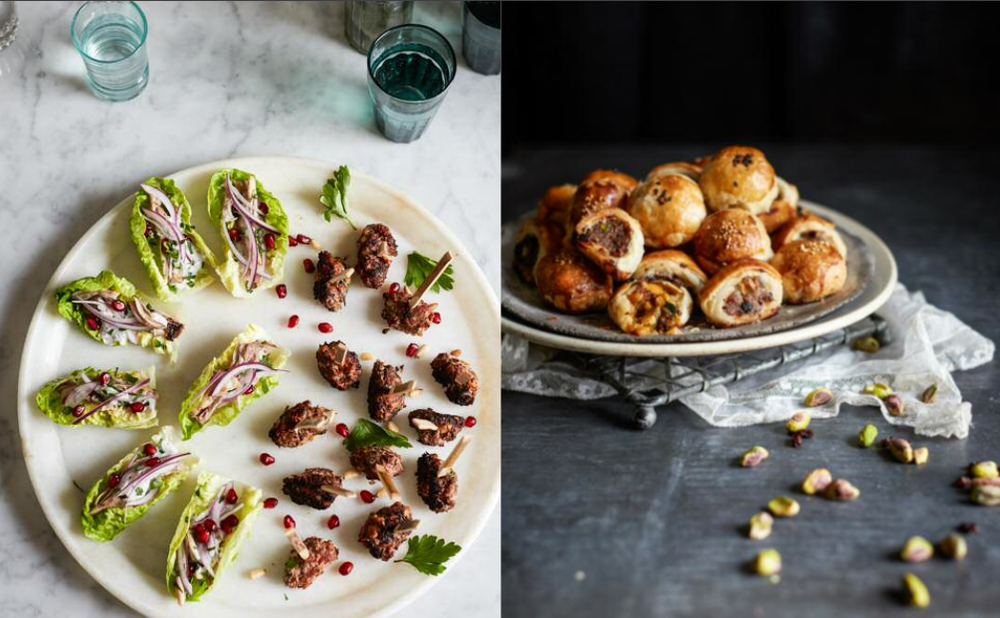 """On the cookbook    """"Party-Perfect Bites""""   , chef Milli Taylor has plenty of easy to make and delicious hors-d'ouvres options for your next gathering."""