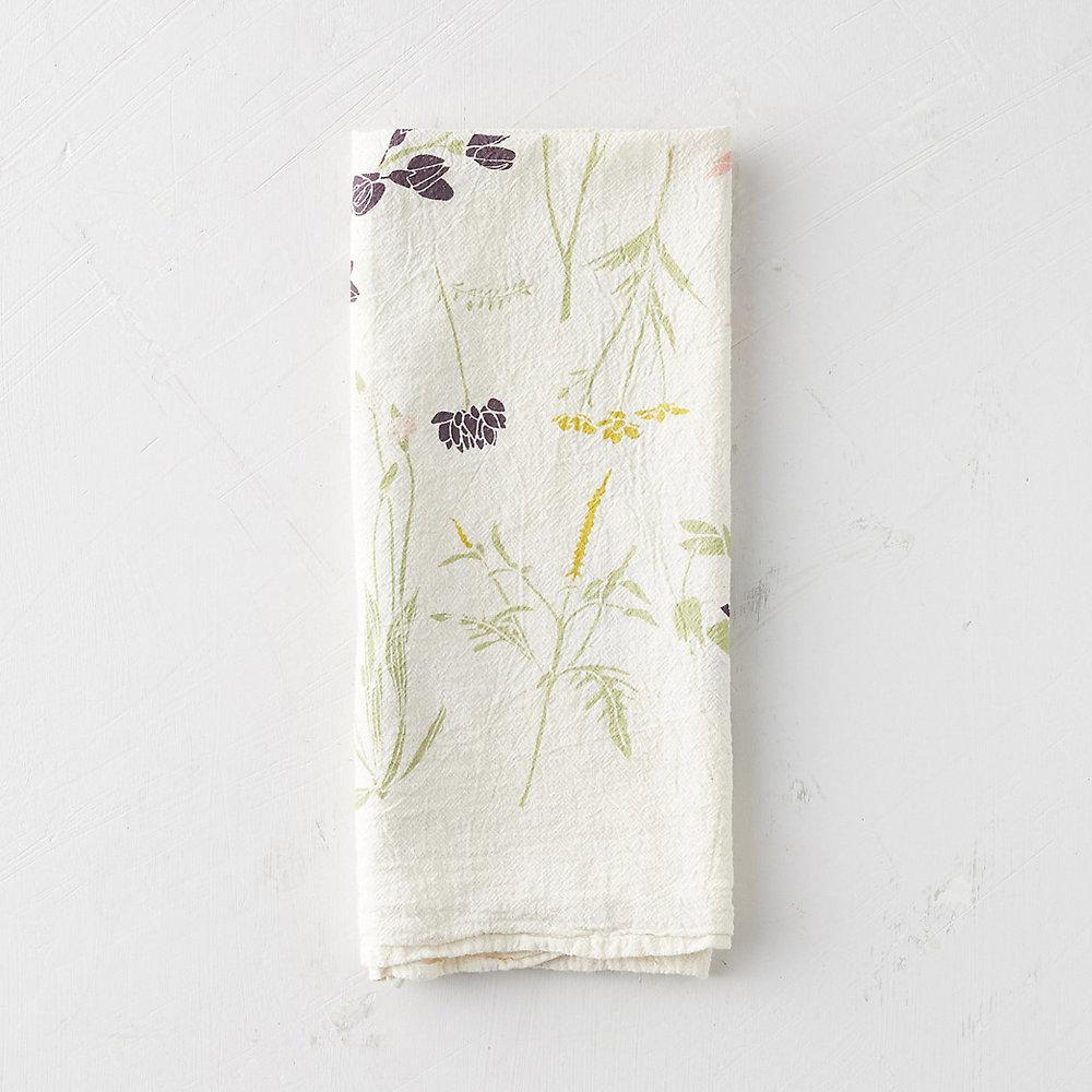 Wild Flower Tea Towel, $24