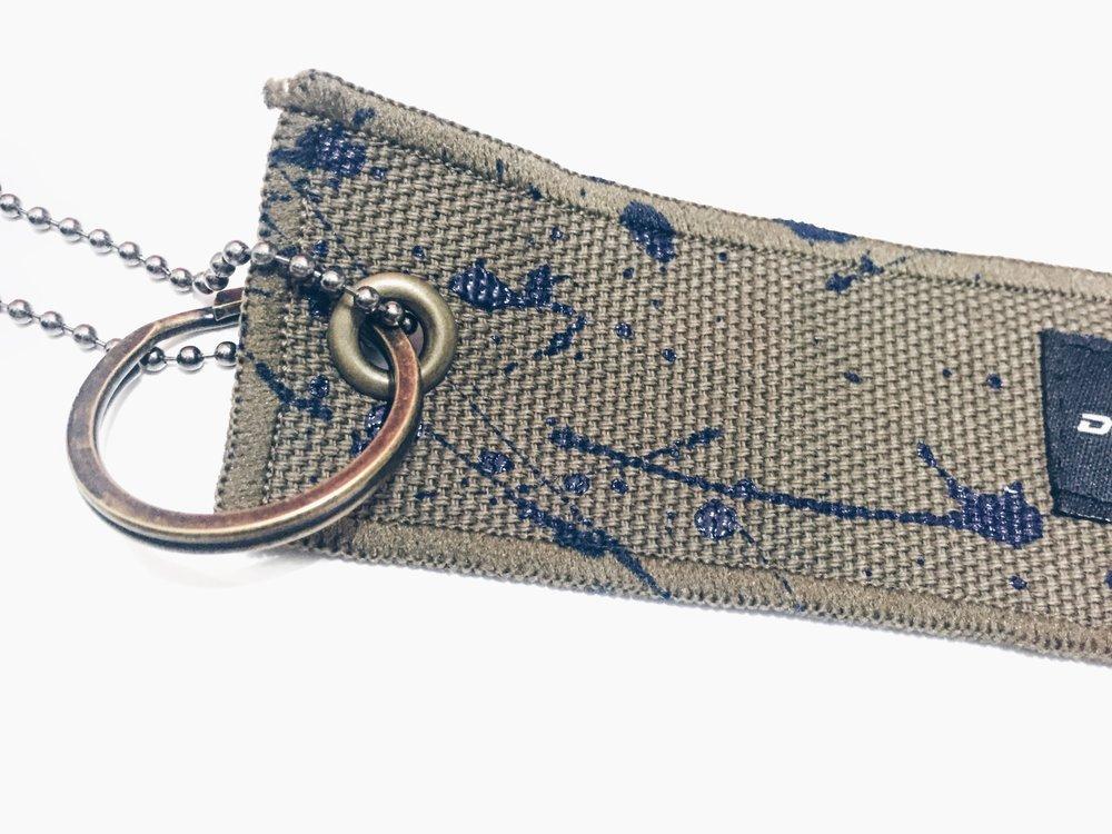 Blue Lake Canvas Keychain - DROP