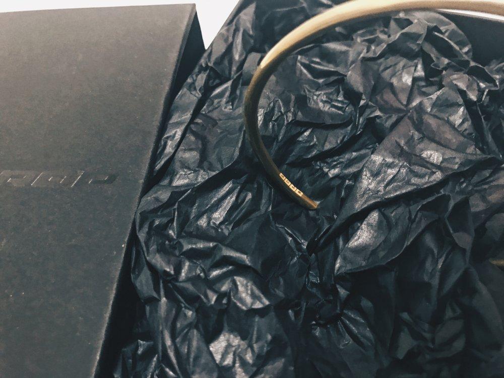18K Yellow Gold Cuff - Circle - DROP