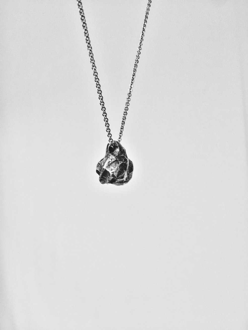 925 Sterling Silver Necklace - Meteorite - DROP